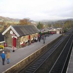 Waiting to board the Settle-Carlisle train at Settle Station